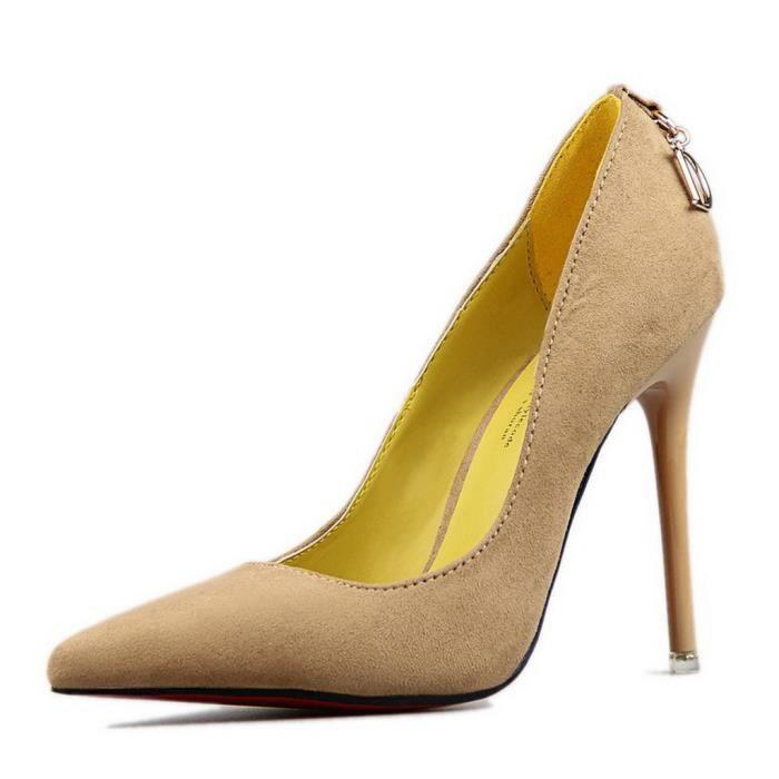 Classique Bal Talon Plateforme Suède Minetom Femme Chaussures Escarpin Haut Soirée Mariage Stilettos bf7vIgyY6
