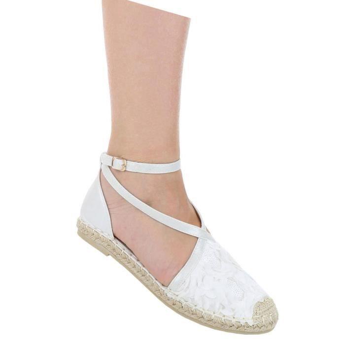 Femme escarpin chaussures Élégant High Heels confortable blanc 39