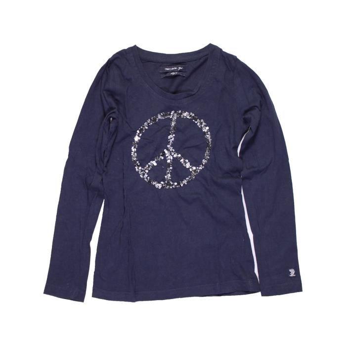 c46b2c2c71dbb T-shirt manches longues enfant fille TEDDY SMITH 10 ans bleu hiver -  vêtement bébé  1052101