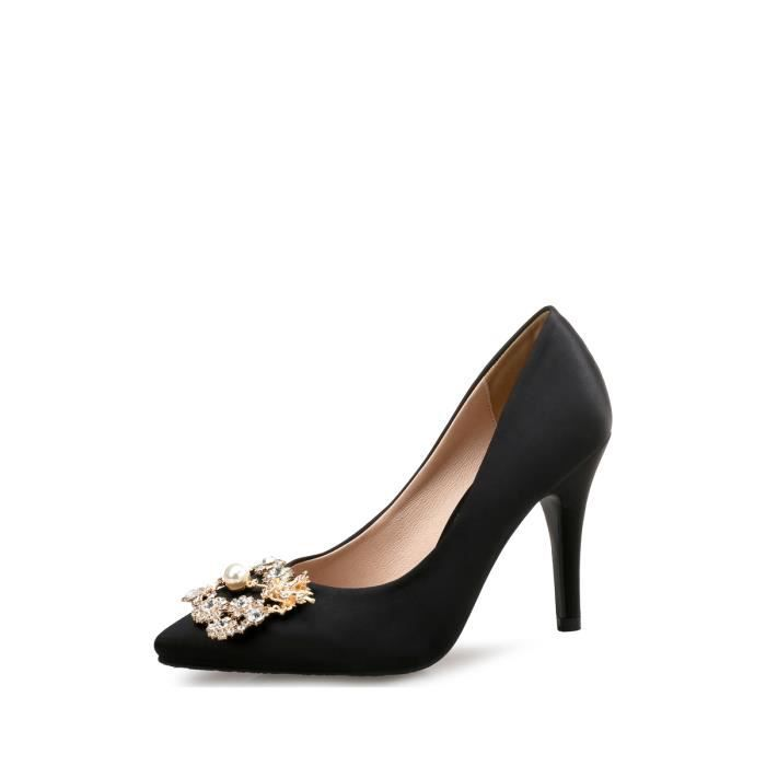 Escarpin Femmes Pompes Toe strass Ornement Pointu bas Chaussures Cut 4775344 NNGG3o