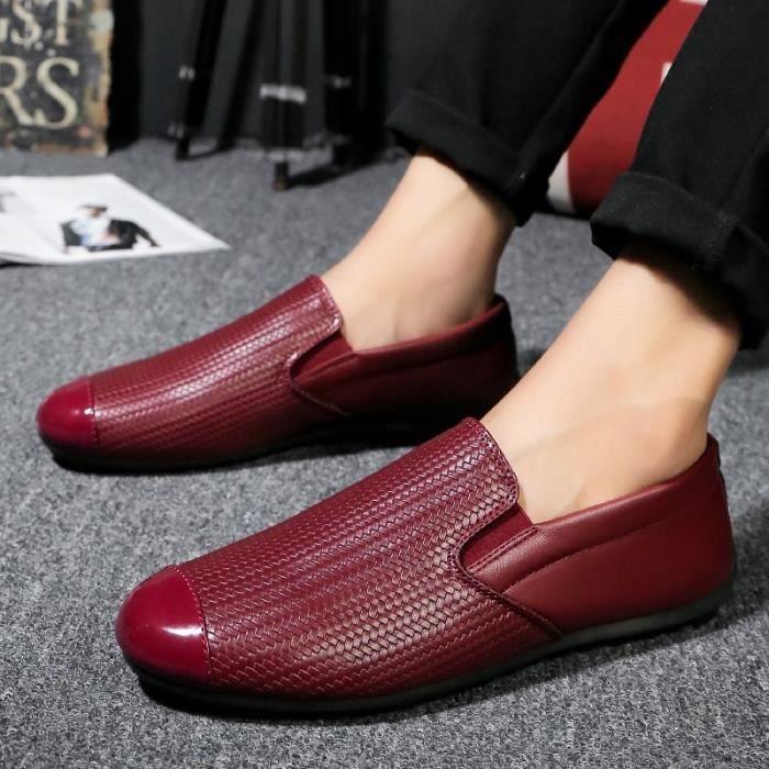 Nouveaux Casual Hommes Marque Flats TCamel Hommes en cuir véritable Mocassins Mocassim Masculino Homme Sapatos Homme TQ6d3iOm9