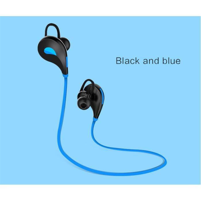 Oem - Ecouteurs Bluetooth Sport Pour Motorola Moto G6 Play Smartphone Sans Fil Bouton Son Kit Main Libre I Couleur:bleu