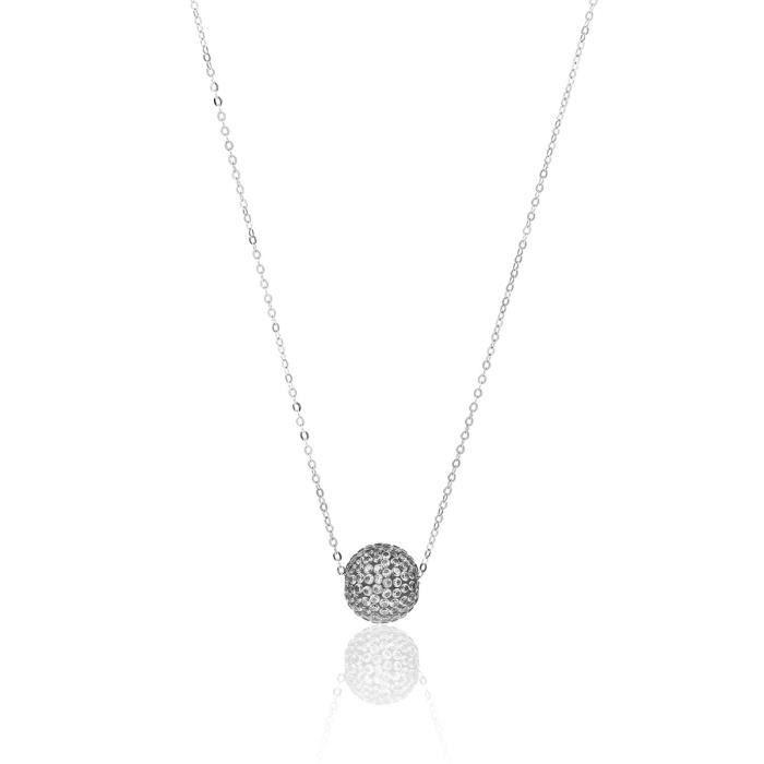 Collier CLEOR Argent 925/1000 Oxyde - Taille : 40 cm- Z0146603 - Argenté