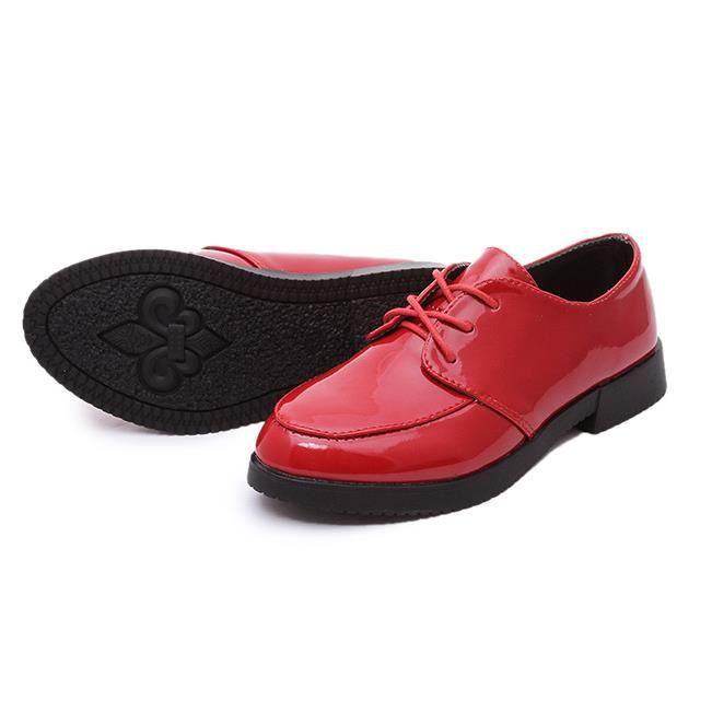 Rouge Enfants Doug chaussures de cuir.