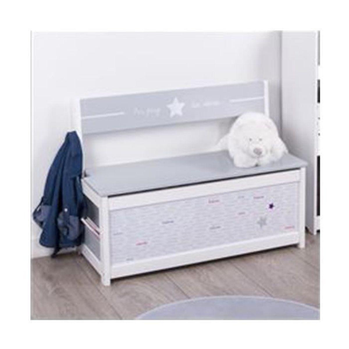 banc coffre jouets pour enfants en bois achat vente coffre jouets 3482731237691 cdiscount - Coffre A Jouets Banc