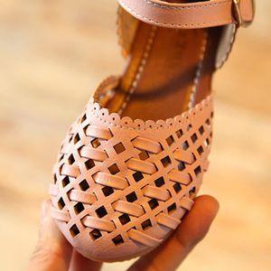 BOTTE Les filles d'été sandales découpées Outsdler fille sandales enfants chaussures plates occasionnels@BlancHM WBu8xsx9JM