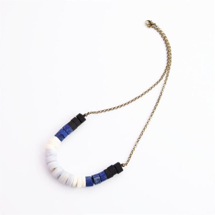 Womens Lapis Coral Chalcedony Obsidian Crystal Neklace-gemstone Flat Beads Designers Necklace For MR1IV