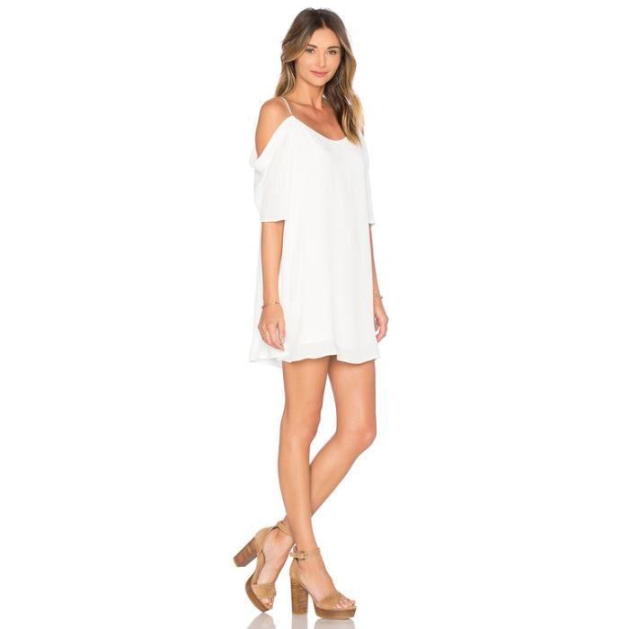 SIMPLE FLAVOR Robe Femme Condole Belt Mousseline De Soie Mode
