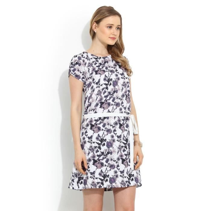 Womens Vintage Print Dress HTBY6 Taille-36