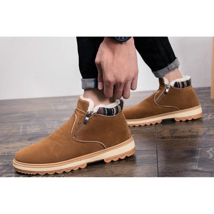 Bottes de neige pour les hommes d'hiver chaud Shoes Souliers simple et confortable Chaussures Cachemire keep Hommes Au chaud Bottes