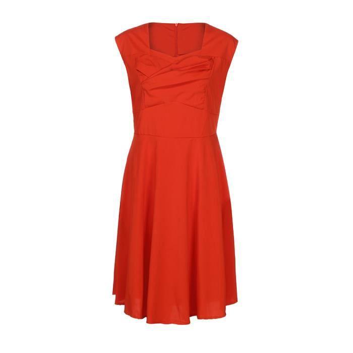 La robe de soirée formelle de soirée décontractée en v cou pour les femmes de la mode@Orange