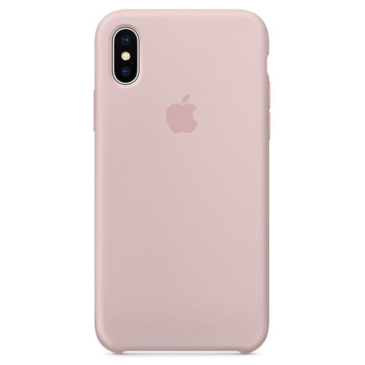 coque iphone xs apple rose