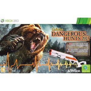 JEUX XBOX 360 Cabela Dangerous Hunts + Fusil Jeu XBOX 360