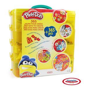 PLAY DOH - Coffret d'activités 365 jours - Coloriage - Peinture - Découpage - Tampons - Pâte ? modeler