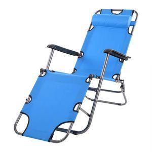 CHAISE LONGUE Chaise Longue Inclinable Pour Jardin Fauteuil Rela