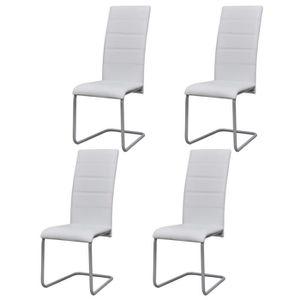Lot de 4 chaises de salle a manger blanche Achat Vente pas cher