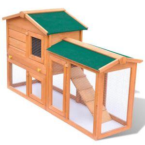 CLAPIER Grande Cage Clapier Extérieur en Bois pour Lapins