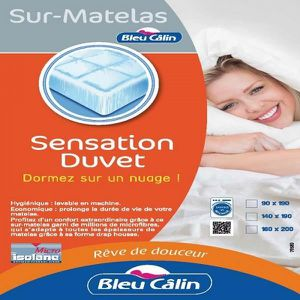 SUR-MATELAS Sur Matelas Sensation Duvet 140x190