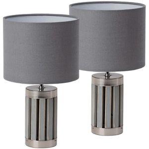 LAMPE A POSER BRUBAKER - Lampe de table/de chevet - Lot de 2 - D