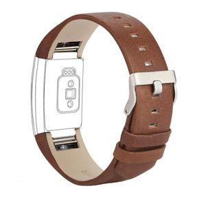 BRASSARD DE JEU - MATCH Bracelet pour Fitbit Charge 2 en Cuir, Bande de Re