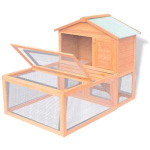CAGE Cage à 2 niveaux pour animaux lapin poulet Clapier