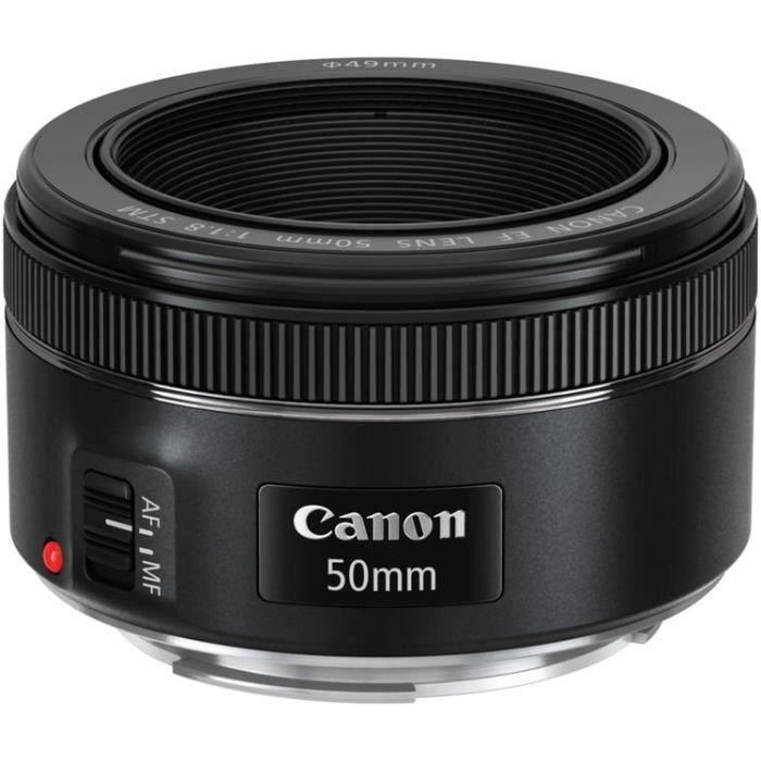 CANON EF 50/1.8 STM Objectif haute qualité pour portraits et photos basse lumière