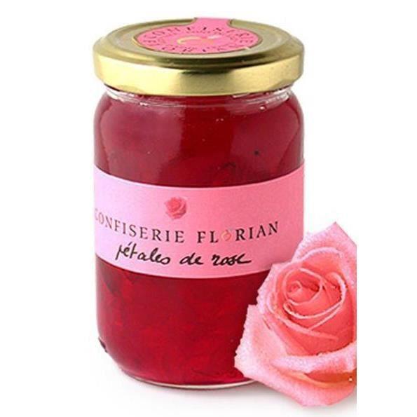 confit de p tales de rose pot de 250 grammes achat vente confiture marmelade confit de. Black Bedroom Furniture Sets. Home Design Ideas