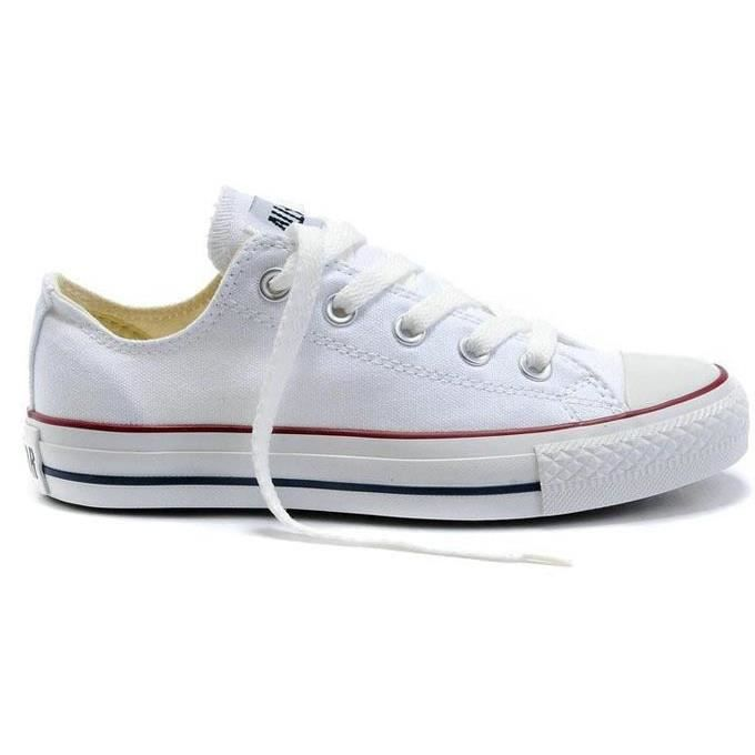 converse basse blanche femme cdiscount