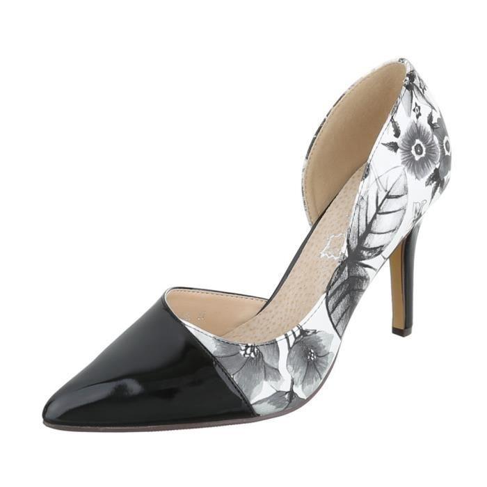 Femme chaussures escarpin High Heels noir Multi 40