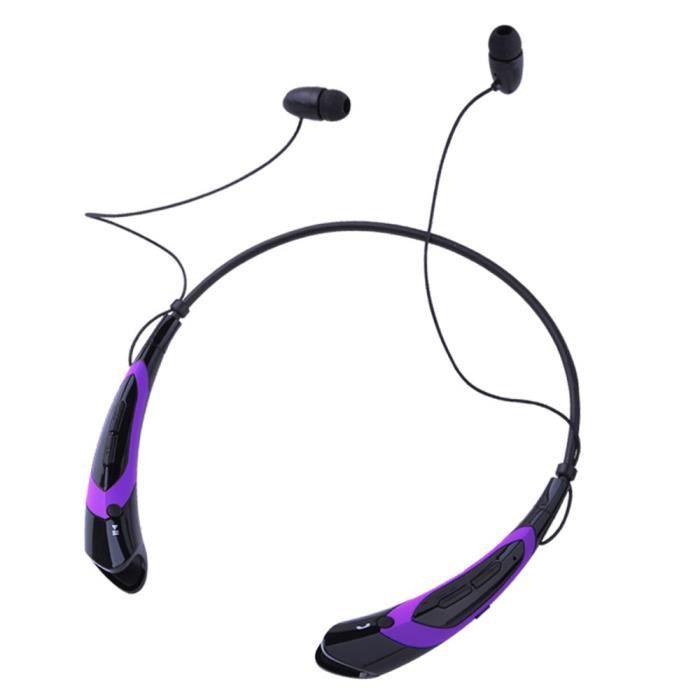 Universel Bluetooth Sans Fil 4.1 Musique Stéréo Sports Casque À Écouteurs Violet