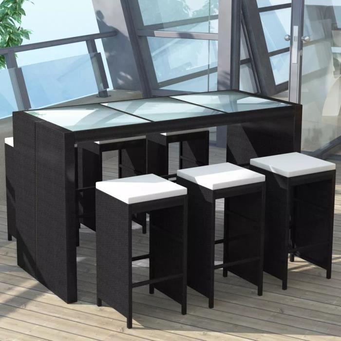 Table bar salon de jardin resine - Achat / Vente pas cher