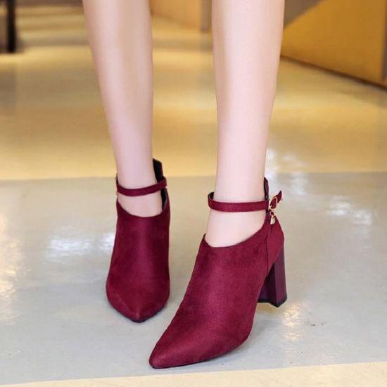 Chaussures xz234rouge35 De Hauts Talons Escarpins Kfxg Femme Mariage Nouvellesà Femmes Pompes 3lFcTuK1J