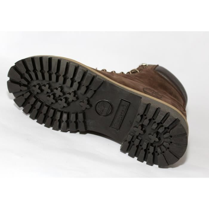 PROMO BOTTINESTIMBERLAN CUIR BROWN MODE HOMME T 44 56QYiE4