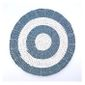 Set De Table Rond 40cm En Jonc De Mer Bleu Et Blanc Deco De Table