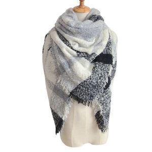 Femmes Tartan Plaid Couverture carrée écharpe à carreaux Grand Wrap Châle  Hiver chaud  WJ994 e44b7b9b48c