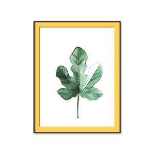 TABLEAU - TOILE Toile tropicale verte laisse la toile d'affiche d'