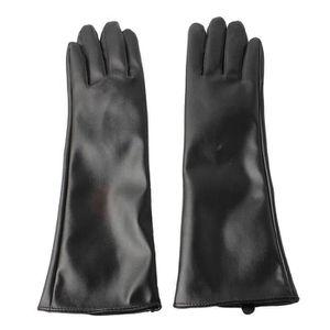 2434f91f4b54 GANT - MITAINE dames élégantes longs gants en cuir noir faux