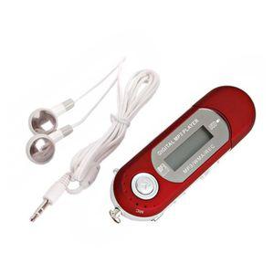 LECTEUR MP3 LECTEUR BALADEUR USB MP3 2/4/8GB ROUGE Lecteur de