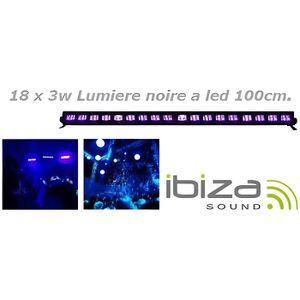 PACK LUMIÈRE IBIZA LIGHT LED-UVBAR18 Barre à LED UV 18 x 3W