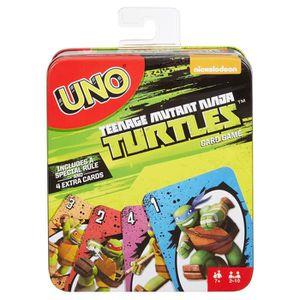 CARTES DE JEU Mattel Uno Teenage Mutant Ninja Turtles jeu de car
