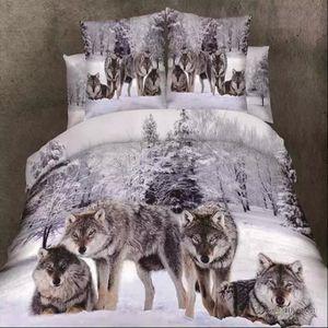 couette loup achat vente couette loup pas cher cdiscount. Black Bedroom Furniture Sets. Home Design Ideas