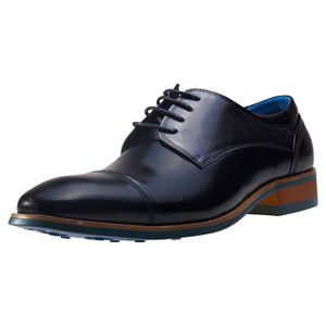 DERBY NW1 London Buffalo Derby Hommes Chaussures Noir -