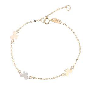 BRACELET - GOURMETTE YSORA Bracelet Or Bicolore 375° Papillon Enfant