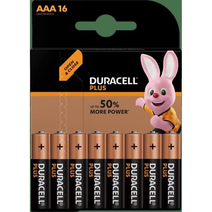 DURACELL 16 Piles Plus Power - AAA