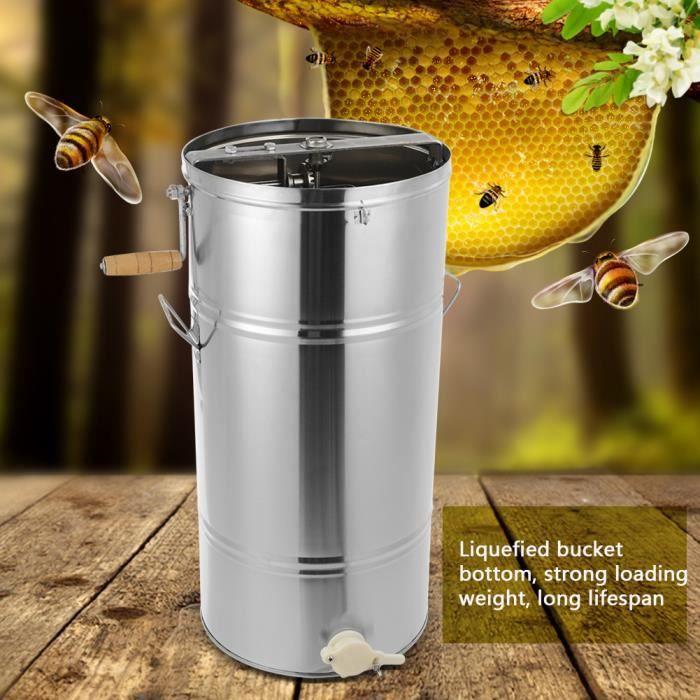 LÈVES CADRES Extracteur de miel d'abeille manuelle 72*34.5cm de