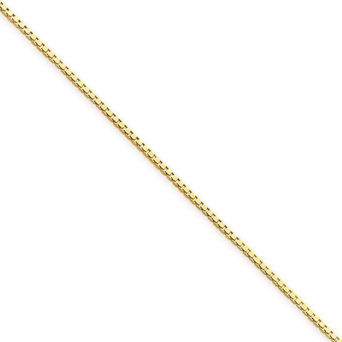 . 9 carats 14 mm chaîne collier 20 pince de homard