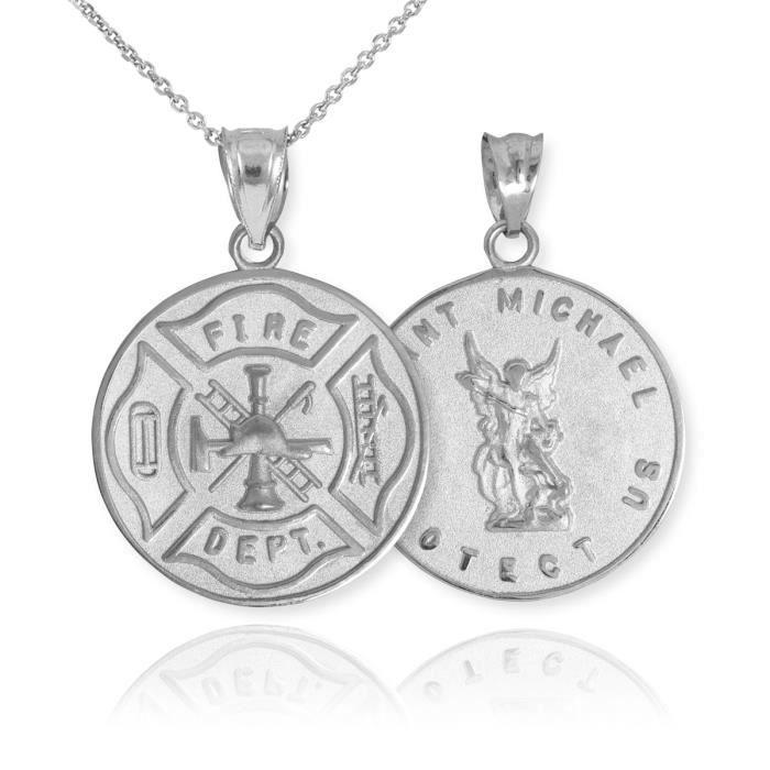 Pendentif Pendentif Argent 925/1000 Insigne réversible St. Michael