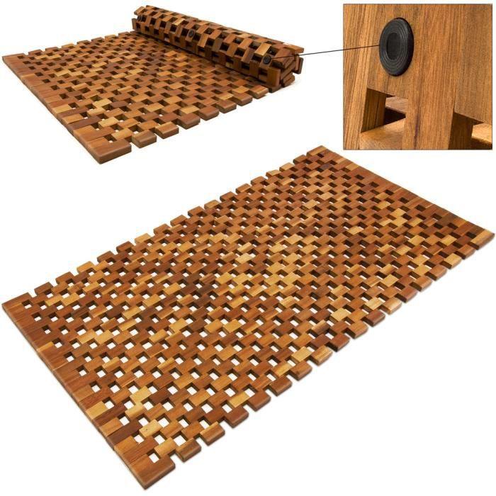 Tapis de salle de bain   tapis de sol antidérapant en bois d