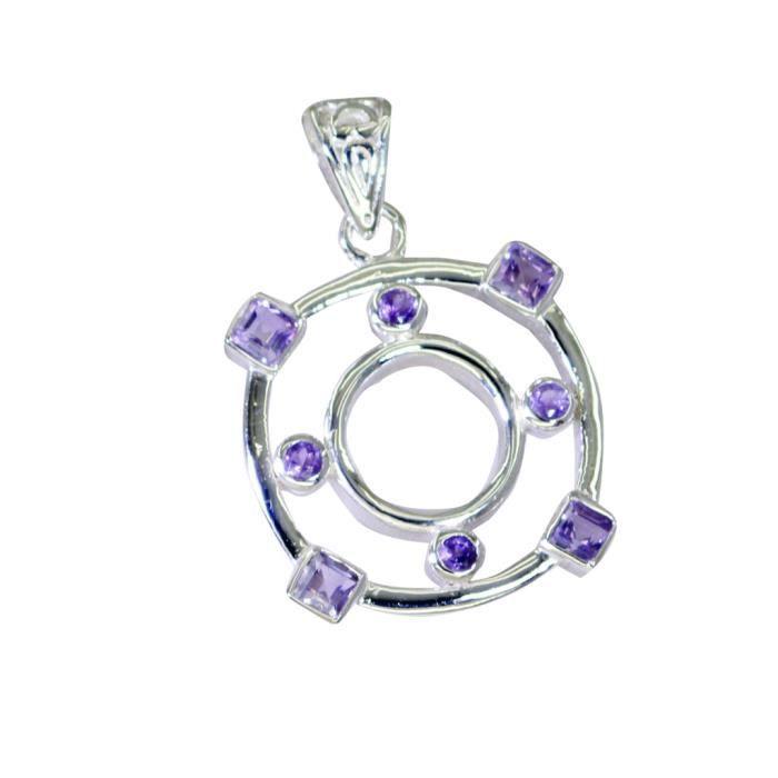 Pendentif Améthyste - Pendentif en argent - pendentif Purple - Violet Pendentif Argent