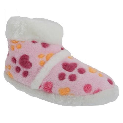 Chaussons avec imprimés pattes de chien - Fille